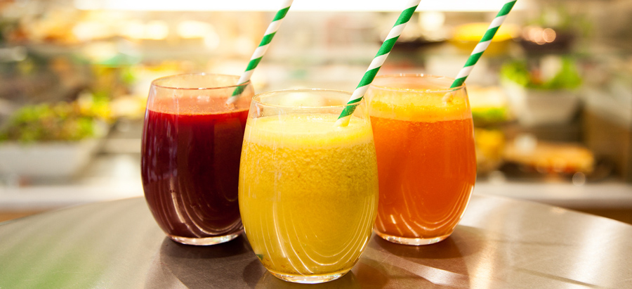 healthy fruit and vegetable juices tempted by the fruit of another